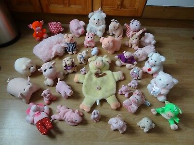 Bundle Of 36 Large & Small Plush Soft PIGS 9 ins High max - inc. PIGGIN' SPECIAL