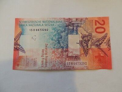 20 Swiss Franc Currency Note
