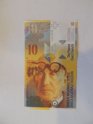 10 Swiss Franc Currency Note