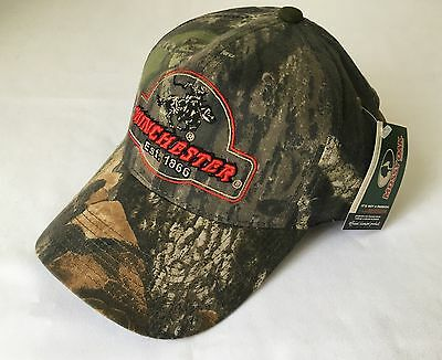 New Wincester Mossy Oak Camo Shooting Hunting Outdoor Hat / Cap
