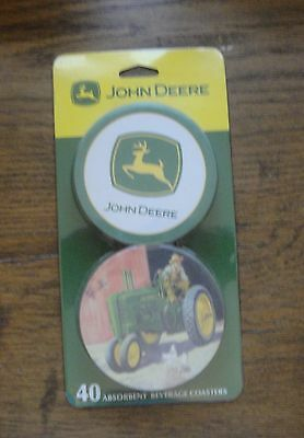 1 Pack of Absorbent JOHN DEERE Coasters 40 Pieces NEW