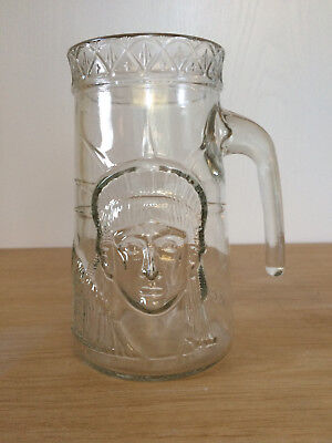 Vintage Statue Of Liberty Centennial Tall Drinking Glass 1886-1986 Embossed