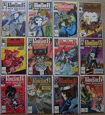 Punisher War Journal #1-39 Marvel Complete (39) Comic Run VF to NM 1988 HOT TV
