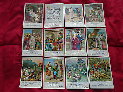 Berean Lesson Pictures 1902 To 1908 - 12 Individual Cards
