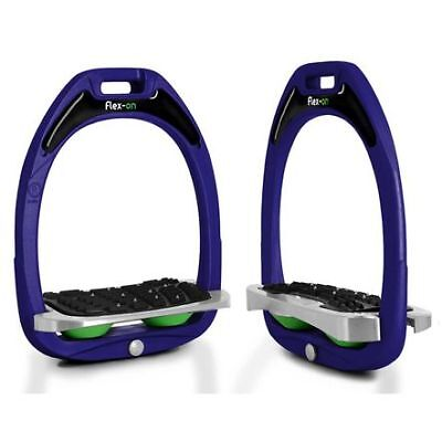 Flex-On Green Composite Stirrups With Inclined Ultra Grip Horse And Equestrian