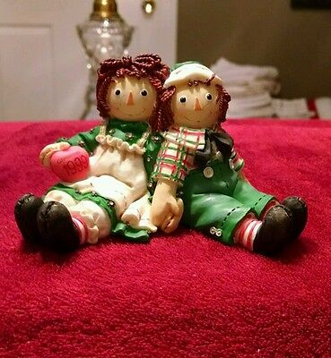 Raggedy Ann and Andy 1999 Christmas figurine Limited edition