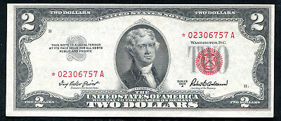 Fr. 1510* 1953-A $2 *star* Red Seal Legal Tender United States Note Unc