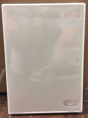 "1 Premium White Single Disc DVD or Wii  Case From New Media, Standard 1/2"" 14mm"