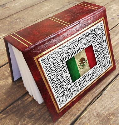 """Small personalised photo album book, 96 x 6x4"""" photos Mexico holiday memories"""