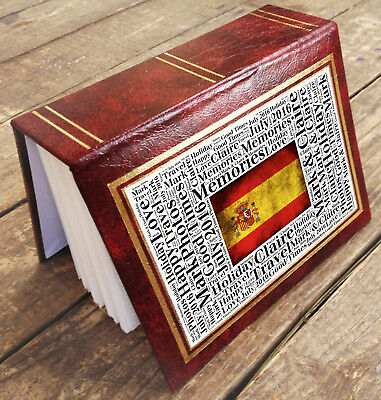"""Small personalised photo album book, 96 x 6x4"""" photos Spain holiday memories"""