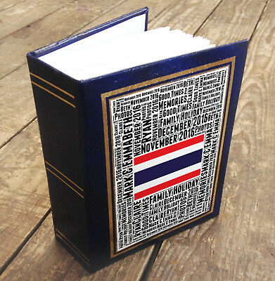 """Small personalised photo album book, 96 x 6x4"""" photos Thailand holiday memories"""