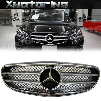 For 2014+ BENZ W212 E-Sedan Facelift LUXURY Model A Type Chrome Fin Front Grille