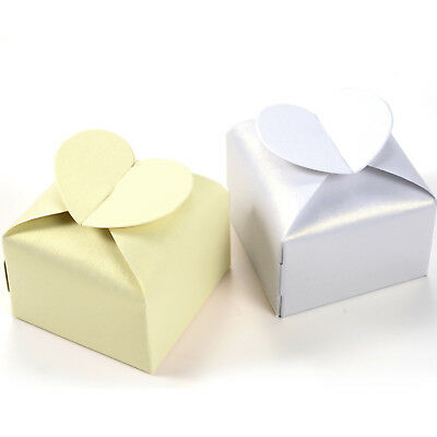 50x Heart Favor Gift Candy Boxes Cake Style for Wedding Party Baby Shower New