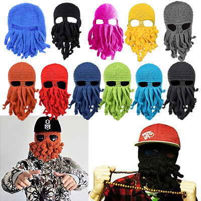 a7144937ed7 Mens Womens Tentacle Octopus Cthulhu Knit Beanie Windproof Ski Mask Hat Cap