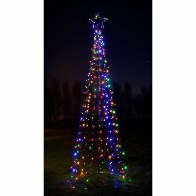 Christmas Tree Outdoor Decoration Xmas Light Pre-Lit LED Pop Up Tree 360cm Large