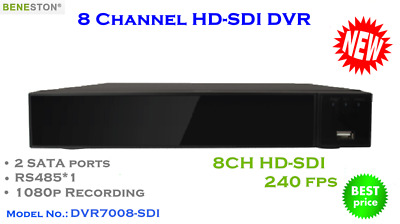 8CH HD-SDI DVR, 1080P real time preview, Mutiview