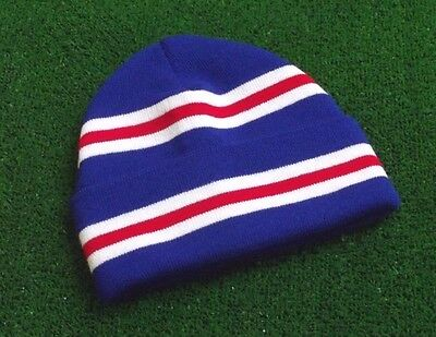 Rangers Colours Retro Bar Hat - Royal, Red & White - Made in UK
