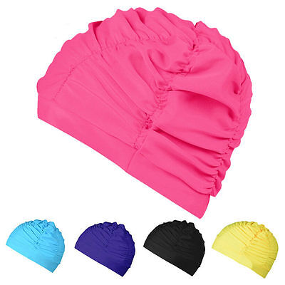 Soft Drape Elastic Swimming Cap Hat for Dreadlocks Long Hair Summer Pool Sea 1PC