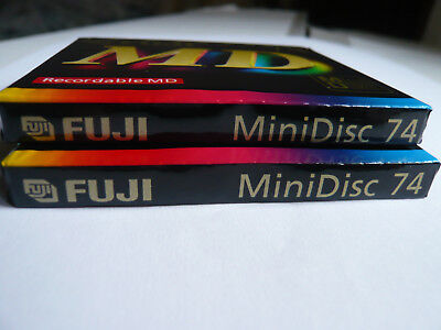 "2x Fuji  MD 74  -  MiniDisc  - Minidisk  -  ""NEU in OVP "" - Sealed and unused !!"