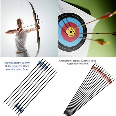 12Pcs Colored Hunting Lighted Led Lighted Luminous Tail Arrow Nocks 8mm SY