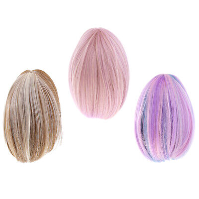 3 Pcs Fashion 17cm Straight Hair Wig Hairpiece for 18'' American Girl Dolls