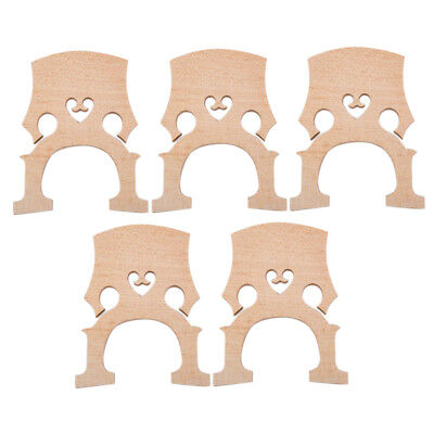 5pcs/Pack 1/8 Cello Fitted Aged Maple Bridge for Cellist 74 x 62 x 11mm Wood