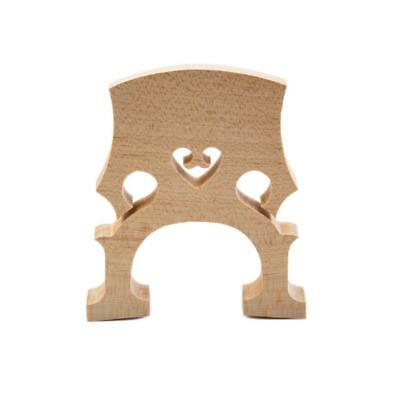Firm Replacement 1/8 Size Cello Bridge Insert 74 x 62 x 11mm Aged Maple