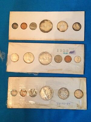 1959 Canadian Proof Like 3 Sets Lot