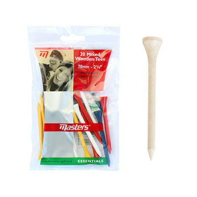 Masters 20 Mixed Wooden Tees 70Mm - 2 3/4 Neu In Ovp