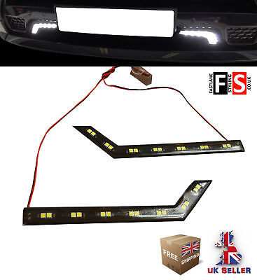 Drl Led Daytime Running Lights-Pair 7 Led Lamps-Waterproof  Nsn3