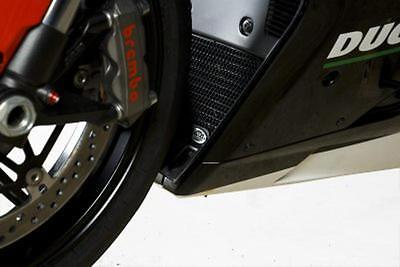R&G RED RADIATOR GUARD for DUCATI 1098S, 2007 to 2008