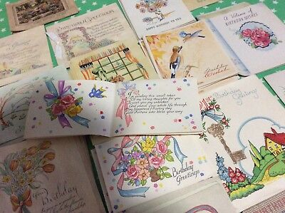 Job lot Vintage Greetings Cards not written in