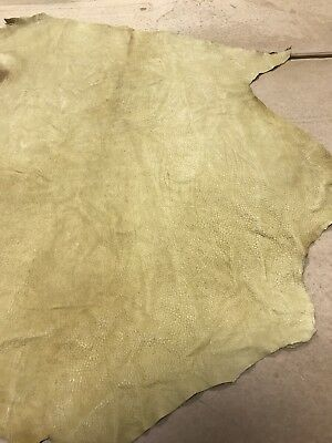 5.2 Sq Ft Mustard Distressed Genuine Leather Skin/Hide