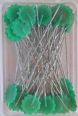 Quilt - Pins with Flower head Green
