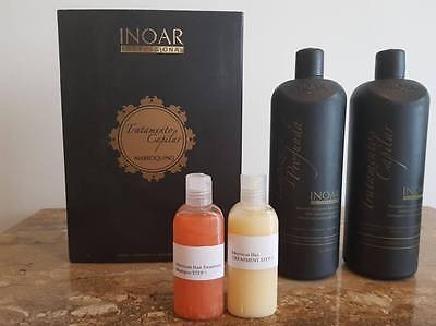 Inoar Moroccan Brazilian Keratin Treatment Blow Dry Hair Straightening Kit Multi