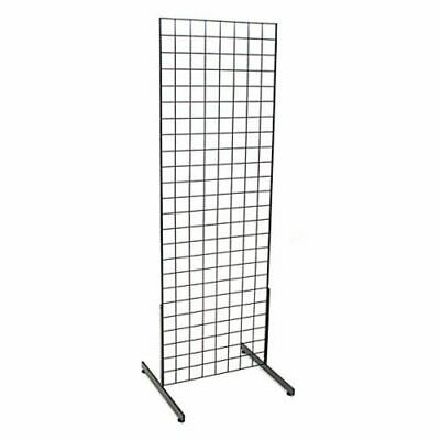 Only Hangers 2' x 6'  Grid Unit with T Legs Black