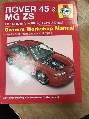 haynes rover 45 mg zs petrol amp diesel 99 05 v to 55 reg rh picclick co uk Rover 400 Series Rover 100