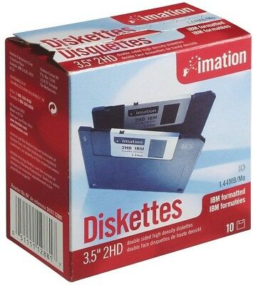 Imation - 3.5' DS-HD IBM Formatted - Black 10 Pack