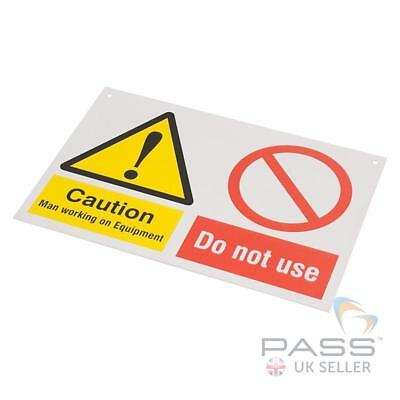 Caution Men Working on Equipment - Do Not Use- 150mm x 225mm