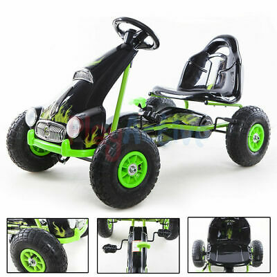 Kids Ride On Racing Pedal Go Kart Toy Rubber Tyres Adjustable Seat Hand Brake