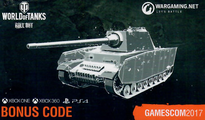 world of tanks bonus code console xbox ps4 gamescom 2016. Black Bedroom Furniture Sets. Home Design Ideas