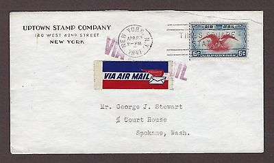 mjstampshobby 1941 US Stamp Company Cover Used VF Cond (Lot4161)