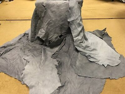 20 Pieces Of Grey Gloving Genuine Leather Minimum Size 1.6 Sq Ft