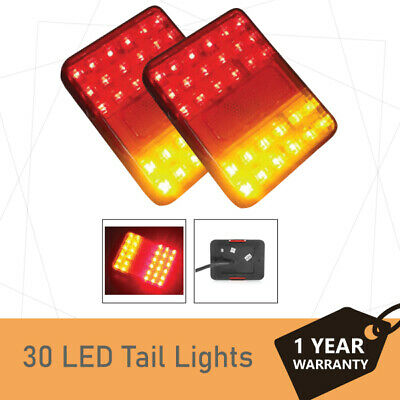 2 x 30LED Trailer Lights Truck Caravan LED Tail Lights 90x120mm- ADR aproved -