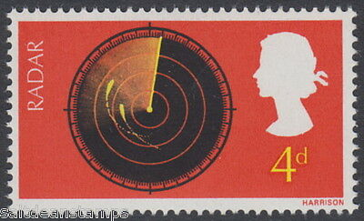 GREAT BRITAIN - 1967 4d. Discovery - PHOSPHOR OMITTED Error - UM / MNH