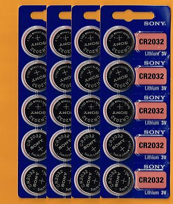 CR2032 SONY Lithium Battery 3V (pack 20 pcs) Expire Date 2027 Brand New Fresh