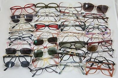 Vintage Lot Of Used 50 Eyeglasses For Men And Women