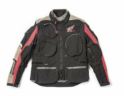 Spidi Honda Textile Adventure Motorcycle Jacket Black Red Africa Twin New