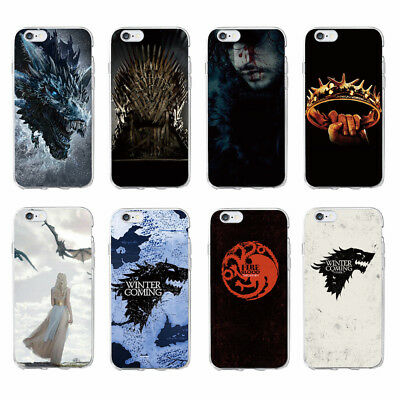 Case Samsung S6 S7 S8 S8+ EDGE A5 & J5 - Game of Thrones Stark Daenerys Dragon