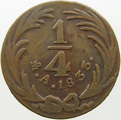 Mexico 1/4 Real 1833 #t9 143